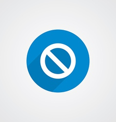 Blue flat prohibition icon vector