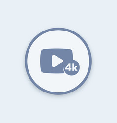4k video content round icon vector