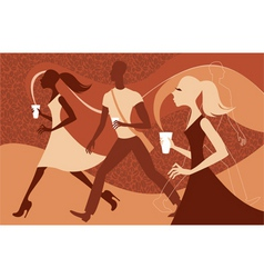 Coffee people vector