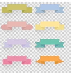 Set color ribbons and banners vector image