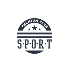 Classic sport label premium club vector