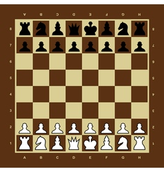 Brown and yellow chess board vector