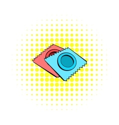 Condoms icon in comics style vector