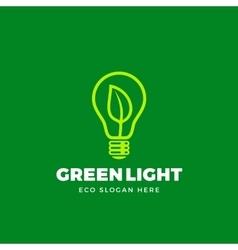 Logo template abstract eco light bulb vector