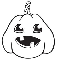 pumpkin baby vector image