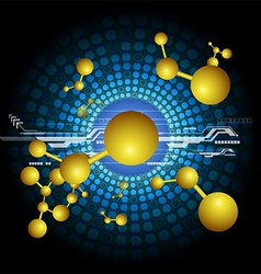 Abstract science and technology background vector