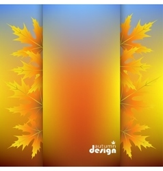 autumn background design vector image vector image