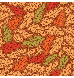 Autumn oak leaves seamless pattern vector image vector image
