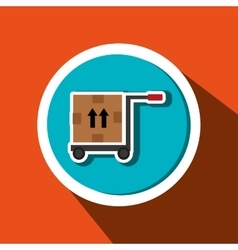 car hand box delivery vector image