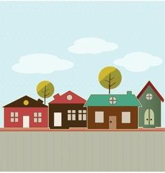 Cartoon town vector image vector image