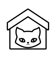 Cat breed animal mammal house pet outline vector
