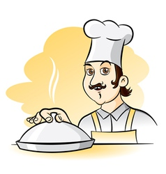Cheerful Chef Cook cartoon vector image vector image