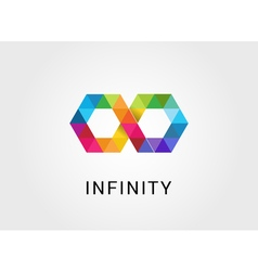 Colorful geometric abstract infinity endless vector