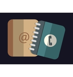 Contact and address book icons image vector