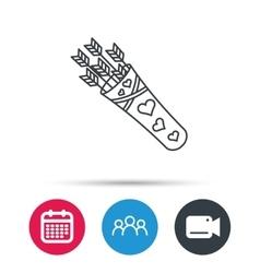 Cupid arrows icon love weapon sign vector