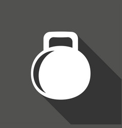 dumbbell icon with a long shadow vector image