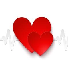 Heart rate emblem vector