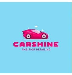 Logo car icon colored of glamorous vector image