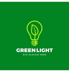 Logo Template Abstract Eco Light Bulb vector image vector image