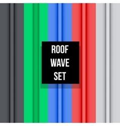 Metal roof seamless pattern set vector image vector image