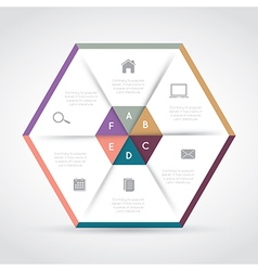 Modern hexagon infographics vector
