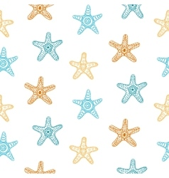 Seamless pattern with sea stars vector image vector image