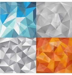 set of faceted abstract crystal backgrounds vector image vector image
