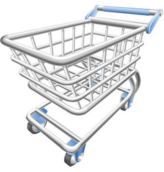 shopping cart trolley vector image vector image
