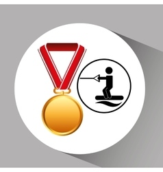 Skate water medal sport extreme graphic vector