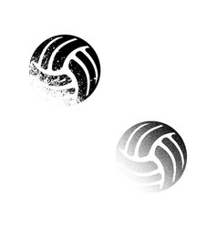 two valleyball balls vector image vector image
