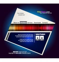 webstite template vector image vector image