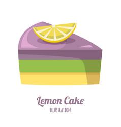 lemon cake vector image