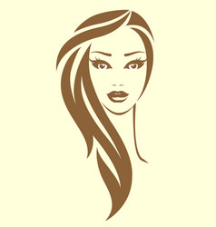 woman in vintage style vector image