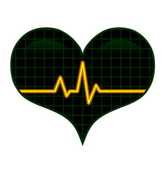 Pulse ekg heartbeat romantic love graphic vector
