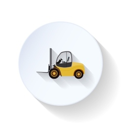 Lift-truck flat icon vector
