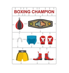 Boxing champion plastic model kits vector