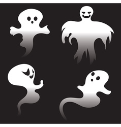 Simple spooky ghosts vector