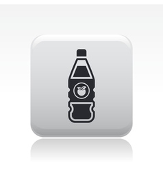 juice bottle icon vector image