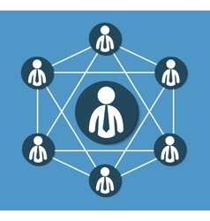People connections design vector