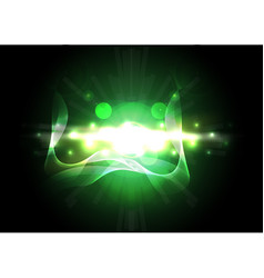 Abstract green lighting background vector image vector image