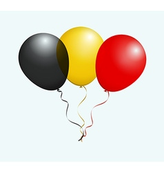 Balloons in black yellow red as belgium national vector