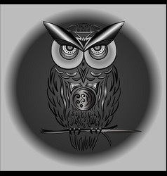 black and white owl in in eps vector image
