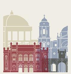 Cadiz skyline poster vector
