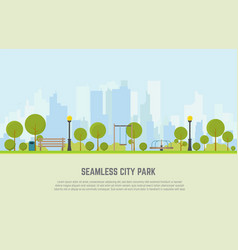 city park seamless background vector image