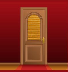 Closed entrance door vector