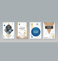 Cloth fabric textile banners set vector