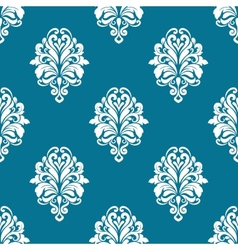Floral seamless pattern with white elements vector image vector image