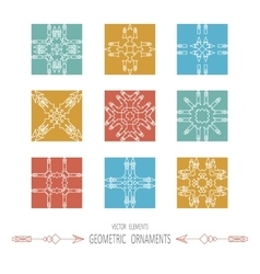 geometry symbols and elements set vector image