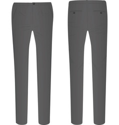gray elegant pants vector image