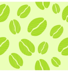 Green Coffee Seamless Pattern Background vector image vector image